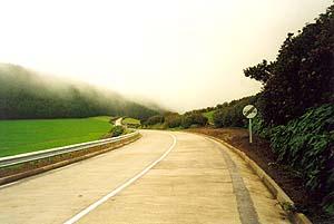 Passstraße nach Ponta Delgada