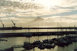 Der Hafen von Horta