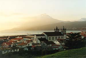 Die Ortschaft Lajes do Pico