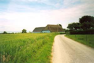 Gemütliche Radwege auf der Insel Aerö