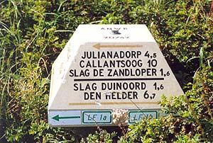 Radwegbeschilderung auf Niederländisch
