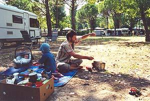 Rustikal-Camping auf einem First-Class-Platz