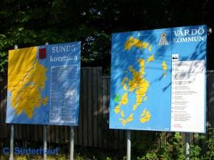 Orientierungshilfen auf den Hauptinseln