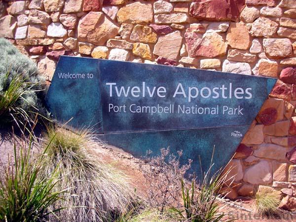 Wegweiser zu den zwölf Aposteln