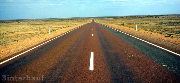 Straße ins Niemandsland