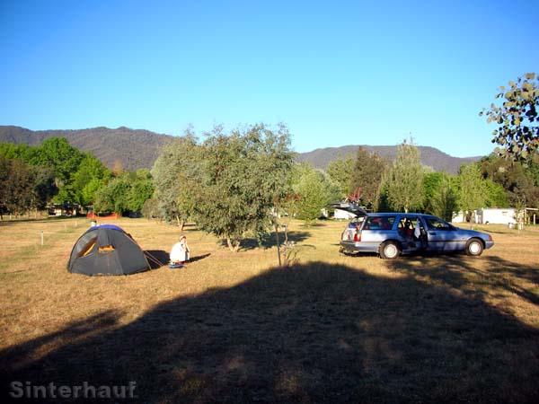 Camping in den australischen Alpen