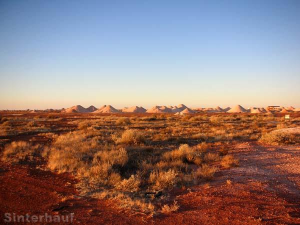 Die Wüste bei Coober Pedy