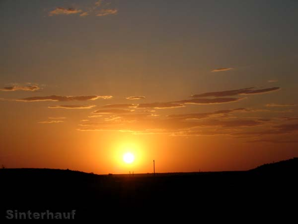 Sonnenuntergang in Coober Pedy