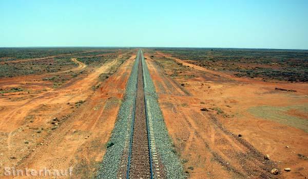 Der Ghan, einzig Zugverbindung von Nord nach Süd