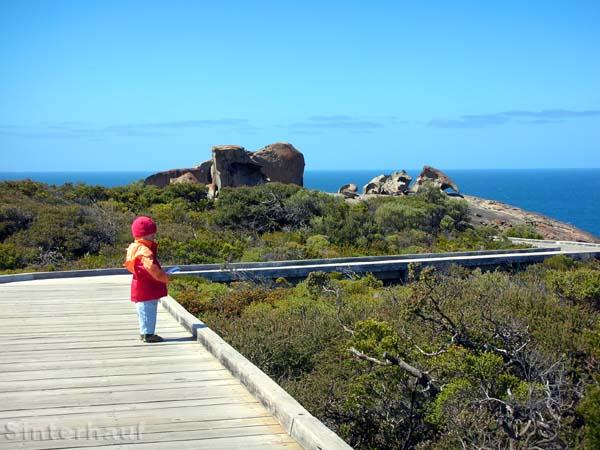 Der Weg zu den Remarkable Rocks