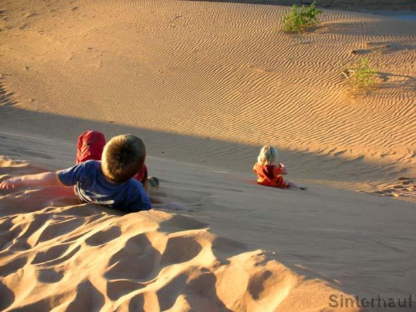 Sandkasten in Übergröße