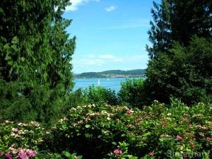 Blick von der Insel Mainau auf den Bodensee