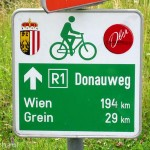 Donauradweg nach Wien.