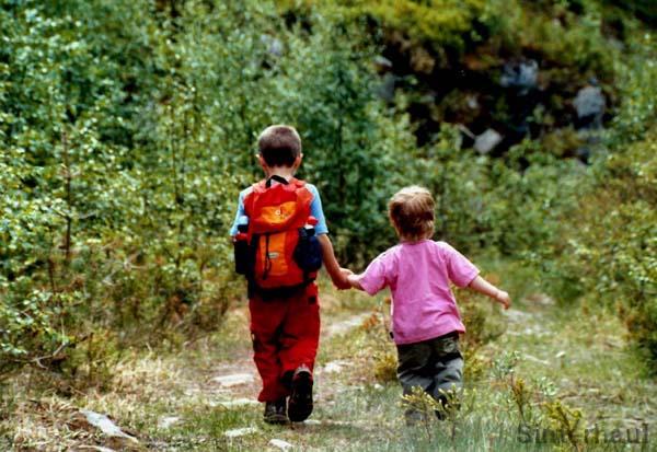 Wandern mit meiner Schwester