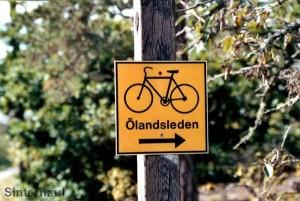 Ausgeschilderte Radwege auf Öland