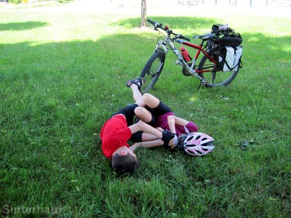 Geschwisterstreitigkeiten sind normal auf Radtouren