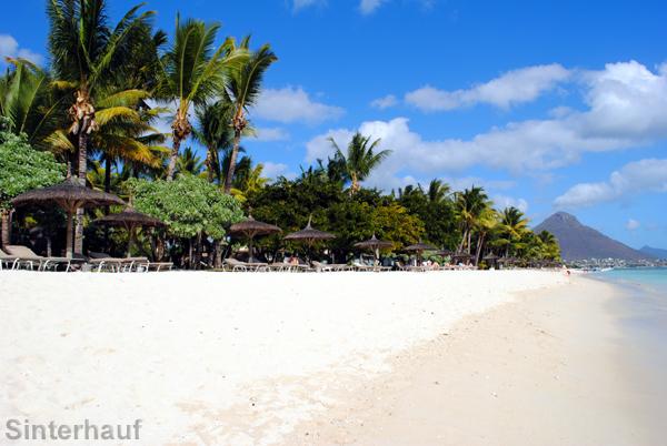Hotelanlagen an der Westküste von Mauritius
