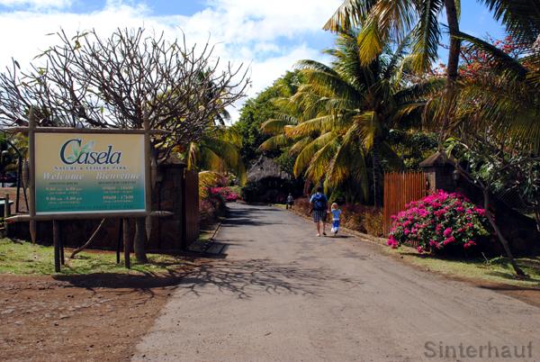Eingang zum Casela Birdpark