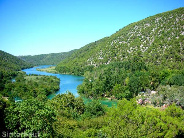 Blick auf den Fluss Krka