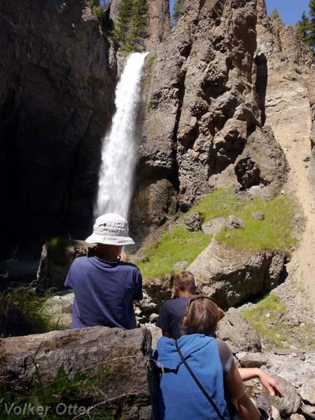 Kurzwanderung zu den Tower Falls