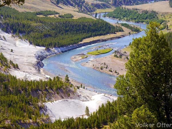 Wanderung Specimen Ridge Trail mit Blick auf den Yellowstone River