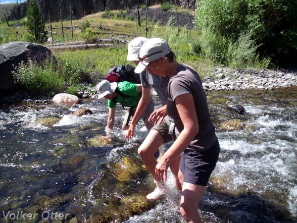 Wildniswanderung Tower Creek Trail mit Flussquerung