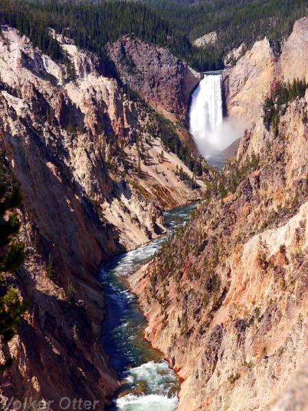 Yellowstone Canyon Wasserfall