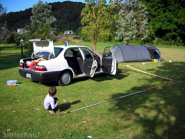 Autobahn auf dem Campingplatz