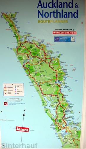 Karte des Nordlandes