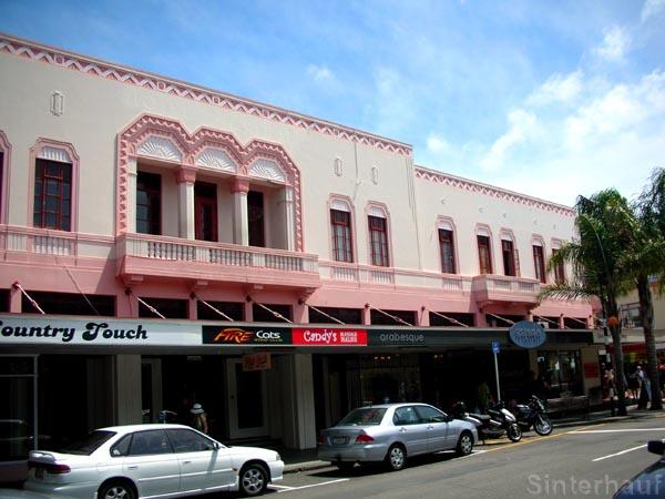 Verschiedene Baustile in Napier