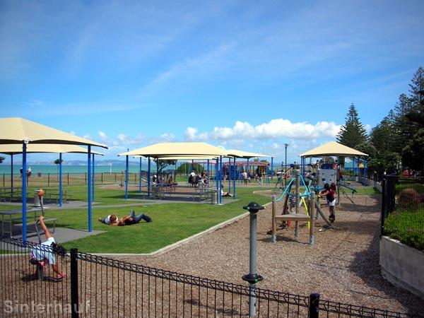 Spielplatz an der Küste von Napier