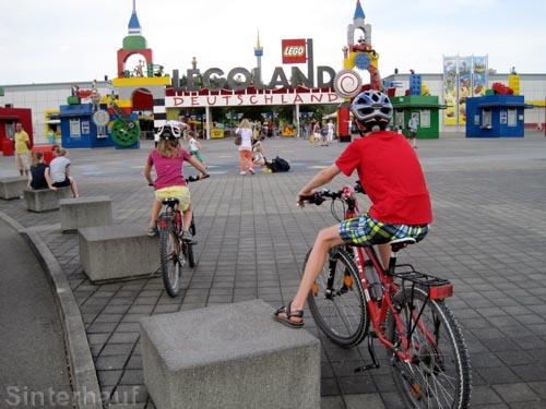 Ein Freizeitpark ist ein super Ziel für eine Radtour