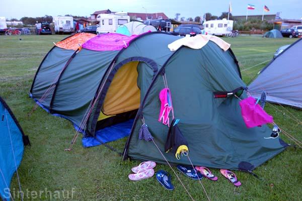Das Zelt ist eine mobile Wohnung auf Zeit