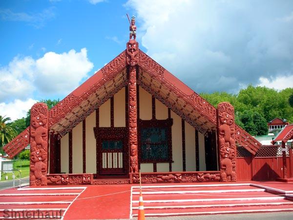 Maori Versammlungshaus in Rotorua