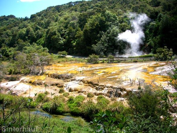 Das Tal des Waimangu Valley