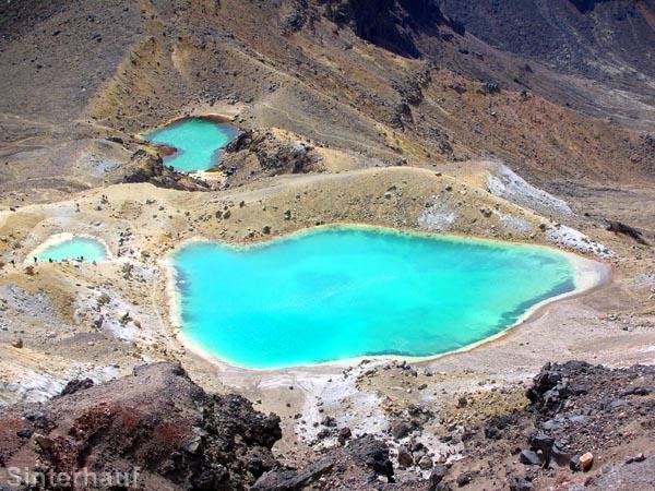 Emerald Lakes im Tongariro NP