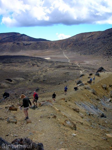 Auf dem Tongariro Crossing