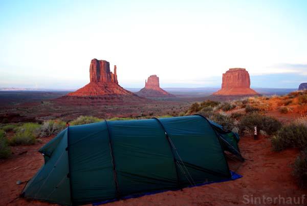 Solche Zeltplätze bleiben ein ganzes Leben in Erinnerung