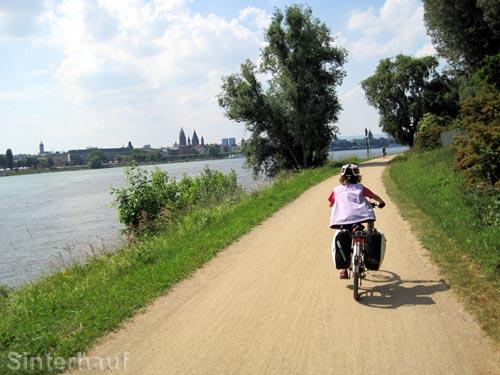 Der Rhein bei Mainz