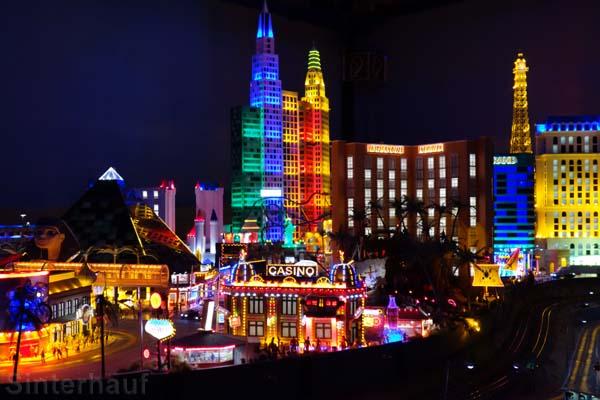 Las Vegas bei Nacht im Miniatur Wunderland