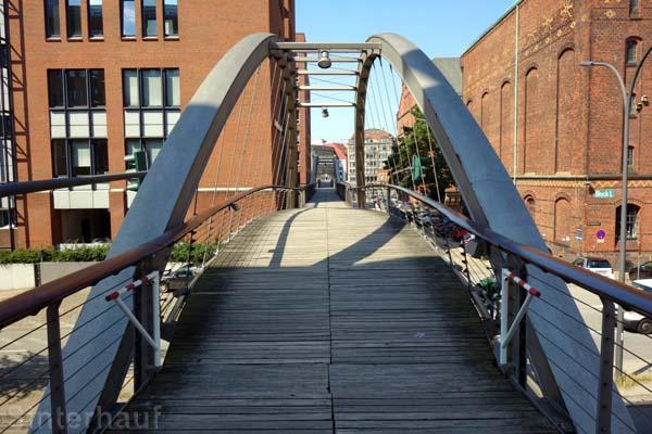 Holzparlenenbrücken in der Speicherstadt
