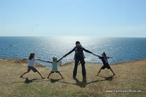 Familie auf Kurs unterwegs