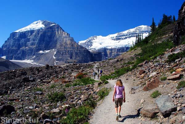Plain of six glaciers walk