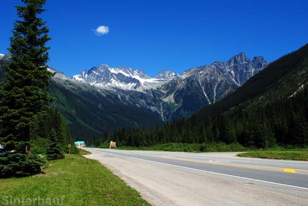 Die kanadischen Rockys zwischen British Columbia und Alberta