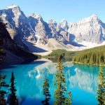 Lake Moraine im Banff Nationalpark
