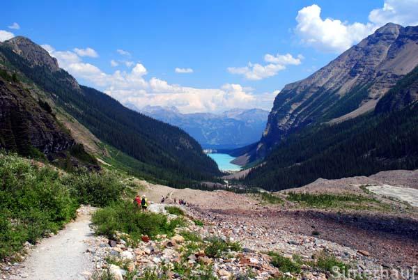 Blick zurück auf den Lake Louise