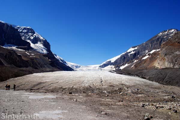 Das Columbia Icefield auf dem Weg zum Jasper Nationalpark