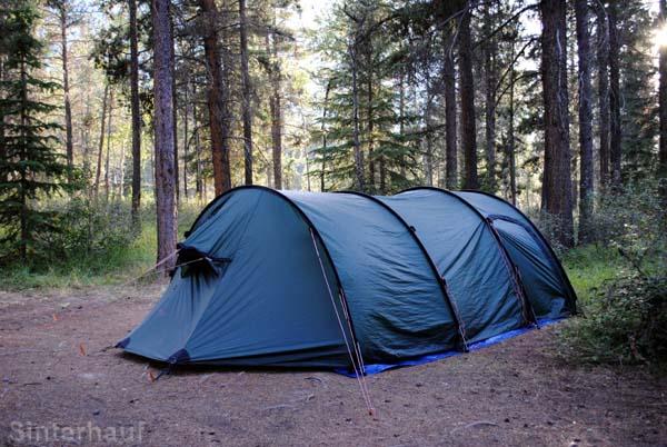 Typischer Zeltplatz in Kanada