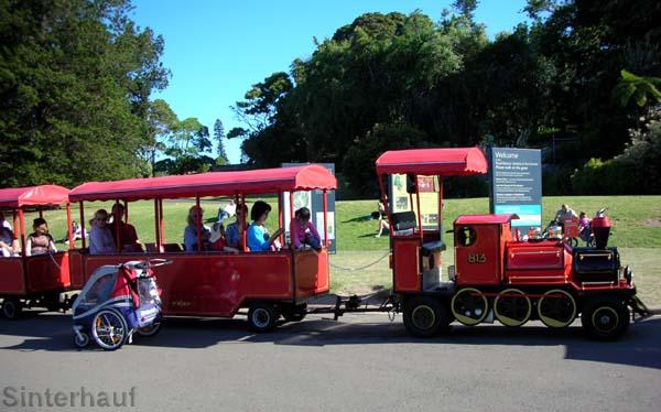 Bimmelbahn im botanischen Garten