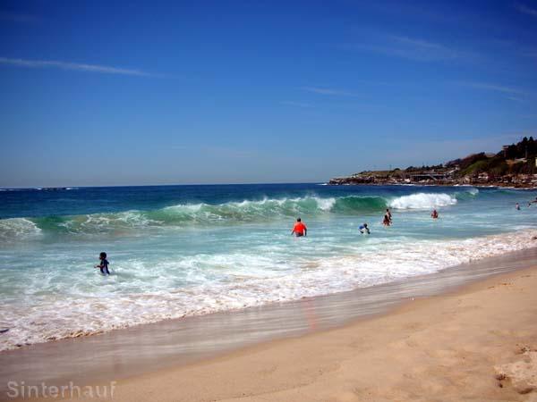 unser erster Beach in Sydney
